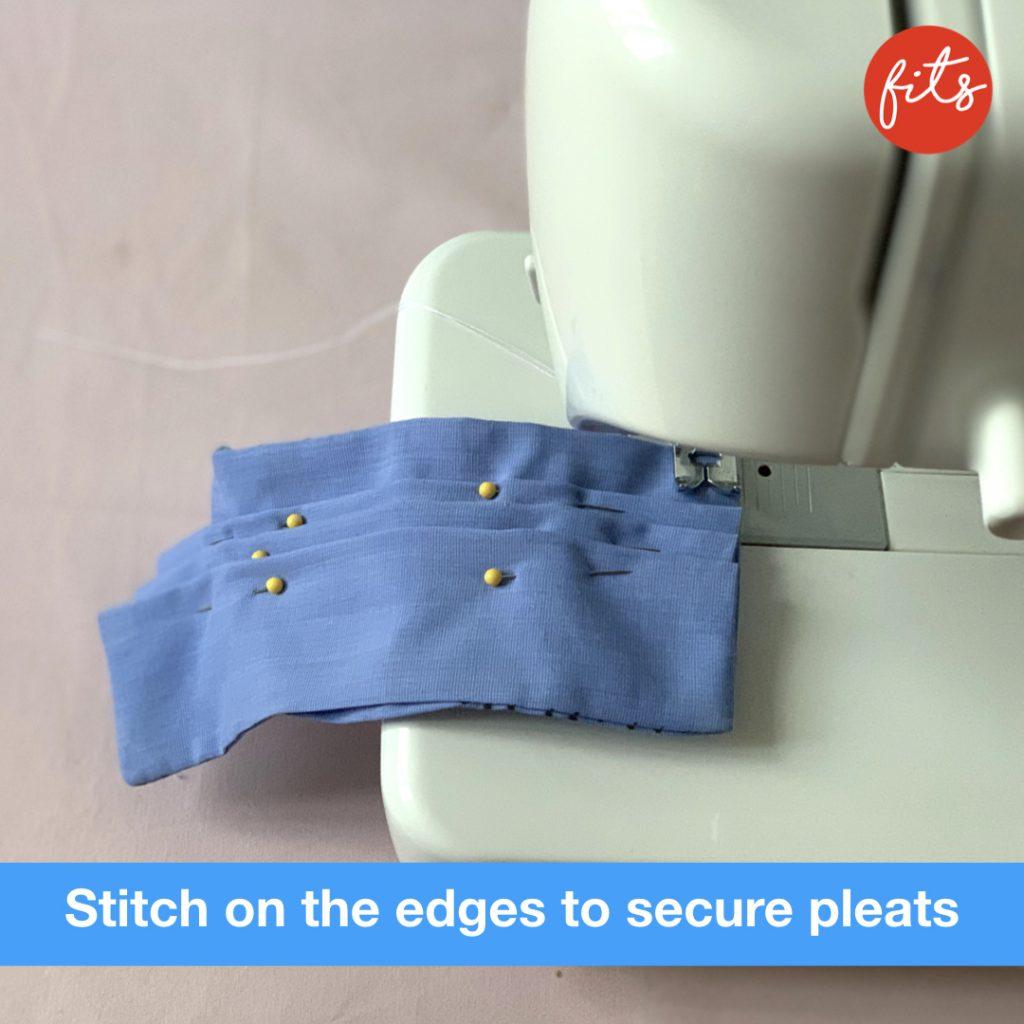 stitching the pleats