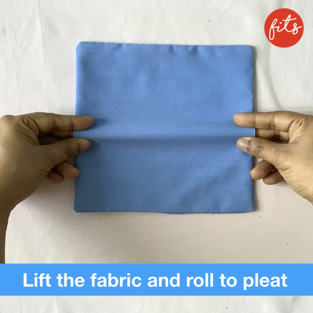 fold to pleat